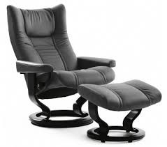 Stressless Wing Classic Recliner U0026 Ottoman Recliner And Ottoman R9