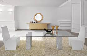 Modern Glass Dining Table Dining Room Modern Wood Dining Table With Glass Foot Square