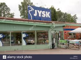 JYSK swedish retailer shop shops furniture home ware sweden Stock