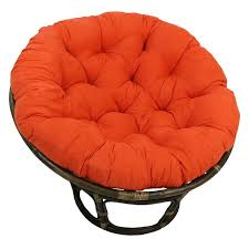 rattan papasan chair with microsuede cushion