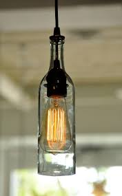 Wine Bottle Light Fixture Incredible Wine Bottle Light Fixtures 1000 Images About Wine