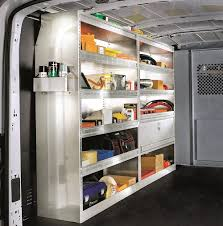 aluminum shelving for higher roof vans