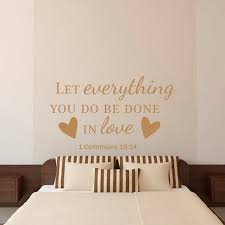 bible verse quotes wall decal let everything you do be done with love vinyl lettering on scripture vinyl lettering wall art with bible verse quotes wall decal let from fabwalldecals on etsy