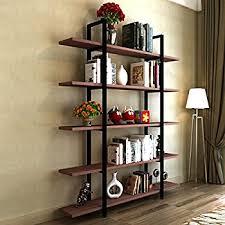 industrial style shelving. Tribesigns 5-Tier Bookshelf, Vintage Industrial Style Bookcase 72 \u0027\u0027 H X 12 Shelving G