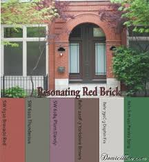 paint colors that go with redPaint color ideas to go with red brickI like the dark brown