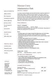 File Clerk Resume Template Classy Sample Of Clerical Resume Administrative Clerk Resume Sample