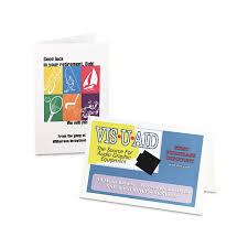 Avery Greeting Cards Avery 8316 Half Fold Greeting Cards Inkjet 5 1_2 X 8 1_2 Matte White 30_box W_envelopes