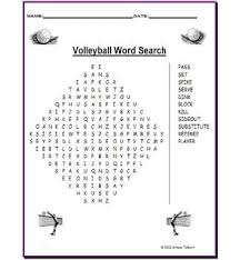 Volleyball Word Volleyball Word Search