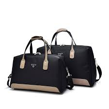 fashion nylon shoulder travel bag women patchwork leather men travel duffle bags large casual tote luggage bag 15 2328 duffle bags for men personalized bags