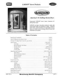 larson storm windows brosco