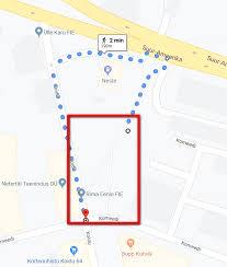 correct walking path when google maps