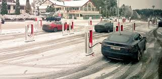 the occasion was the grand opening of the world s largest ev fast charging station capable of charging as many as 28 vehicles at one time of all makes and