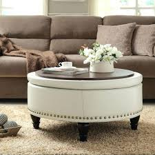 abbyson living havana round leather coffee table white ottoman coffee table beautiful how to make round better homes gardens and also 7 abbyson living