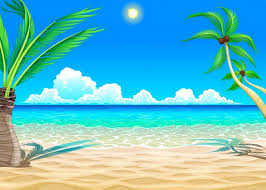 beach cartoon ilration free vector