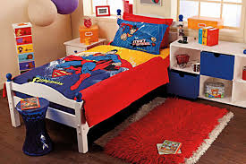 portico superman single bed sheet with pillow cover
