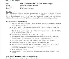 Front Office Resume Interesting Dental Receptionist Resume Sample No Experience Example Dentist