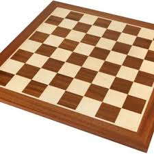 19 inch inlaid mahogany and maple wooden chess board