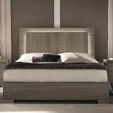 Alf Italia Tivoli King Weathered Grey Bed with BuiltIn LED Light
