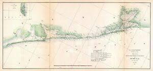 Texas Gulf Coast Water Depth Chart Details About 1857 Coastal Map Nautical Chart Triangulation Matagorda Bay To Galveston Texas