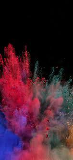 1125x2436 wallpaper color, explosion ...
