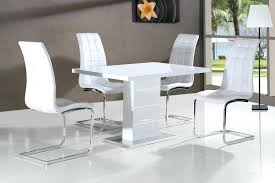 white gloss dining table and coloured chairs big for white extending dining table