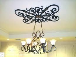 ceiling medallions for chandeliers fans fan two piece desig