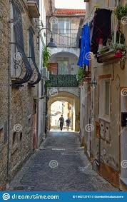 The Old Town Of Capriati A Volturno In The Province Of Caserta, Italy.  Stock Image - Image of window, cityscape: 166213197