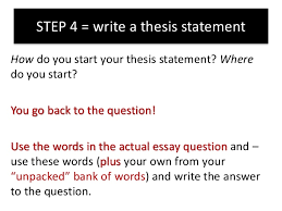 how to answer an essay question on the hero step 4 write a thesis statement 18