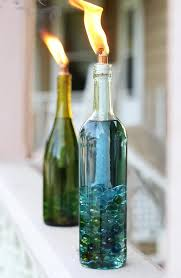 diy citronell wine bottle candles