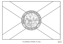 Florida State Flag Coloring Page Florida State Seal Coloring Page ...
