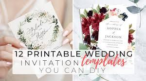 Wedding Invitation Templates With Photo 12 Printable Wedding Invitation Templates You Can Diy