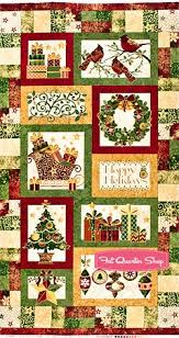 89 best Quilt Panels images on Pinterest | At home, Crafts and ... & Stonehenge Metallic Multi Holiday Cheer Quilt Panel SKU# 3988M-25 Adamdwight.com