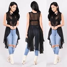 Fashion <b>Womens</b> Sleeveless Loose Blouse Casual Shirt <b>Summer</b> ...