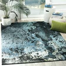 color watercolor area rug blue