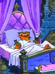 prince john asleep in his castle bedroom