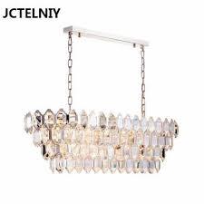 modern crystal chandelier shiny gold luxury long bedroom chandelier restaurant study villa crystal led chandelier malaysia