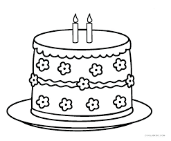Printable Birthday Cake Coloring Page Birthday Cake Coloring Pages