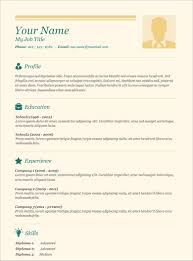 Easy Resume Template Whitneyport Daily Com