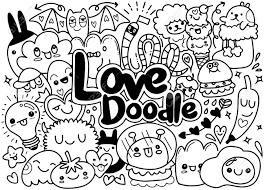 Art Doodle Set Of Funny Cute Doodle Monsters Art Illustration