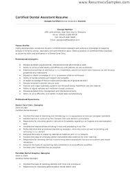 Dental Assistant Resume Objective Dental Assistants Resume Medical Assistant Resume Example Dental 63