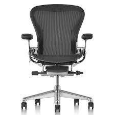 aeron office chair graphite alternate view graphite chassis polished aluminum base