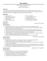 Security Guard Resume Objective security guard resume sample aiditanme 74