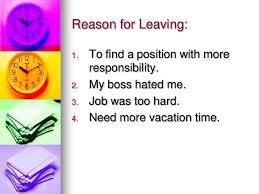 Resume Reason For Leaving Reason For Leaving Job On Application Form Career Cliff