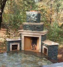 diy outdoor wood burning fireplace kits designs