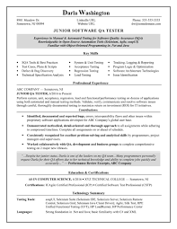 Experienced Qa Software Tester Resume Sample Resume Advice And