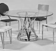 janet glass steel 54 inch round 12mm 1 inch bevel dining table pertaining to stylish house 54 round glass table top plan