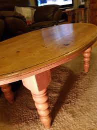 pine coffee table. Gorgeous Oval Pine Coffee Table With Turned Legs Quite A Heavy