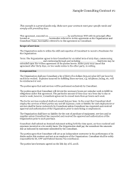 Consulting Contract Template In Word And Pdf Formats