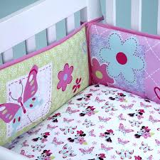 disney minnie mouse baby crib bedding nursery set love blossoms premier
