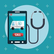 Serviço médico on-line com smartphone | Vetor Grátis